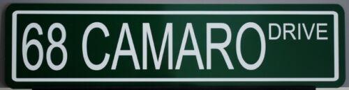 "METAL STREET SIGN /""68 CAMARO DRIVE/"" COPO SS Z-28 302 327 396 427 MOTION 1968"