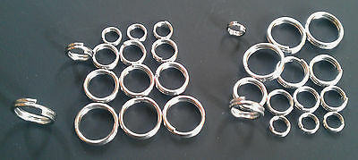 Heavy duty stainless steel double loops split rings Sea Fishing pirks and lures