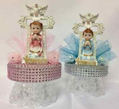 My Baptism Mi Bautizo Blue Boys or Pink Girls Cake Decoration Cake Topper