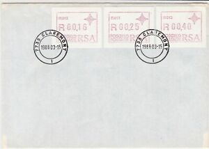 republic of south africa 1988 atm stamps cover ref 19195