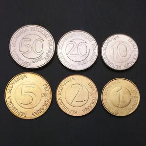 S-2-Slovenia-Set-6-Coins-1-2-5-10-20-50-Tolarjev-2000-2006-UNC