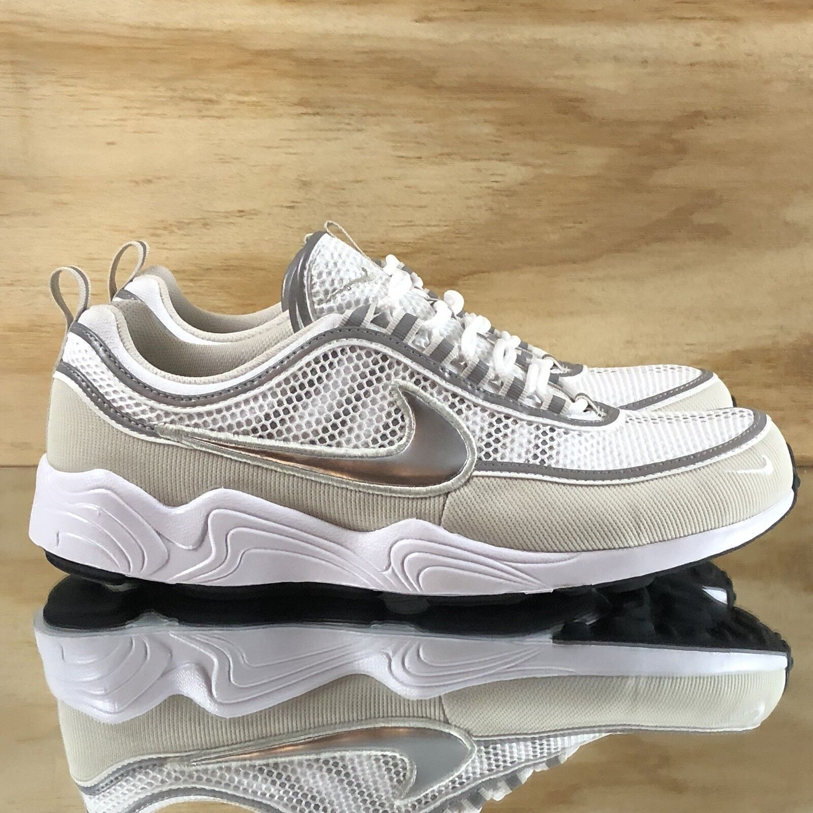 Nike Air Zoom Spiridon '16 White Metallic Silver Bone Grey 926955-105 Multi Size