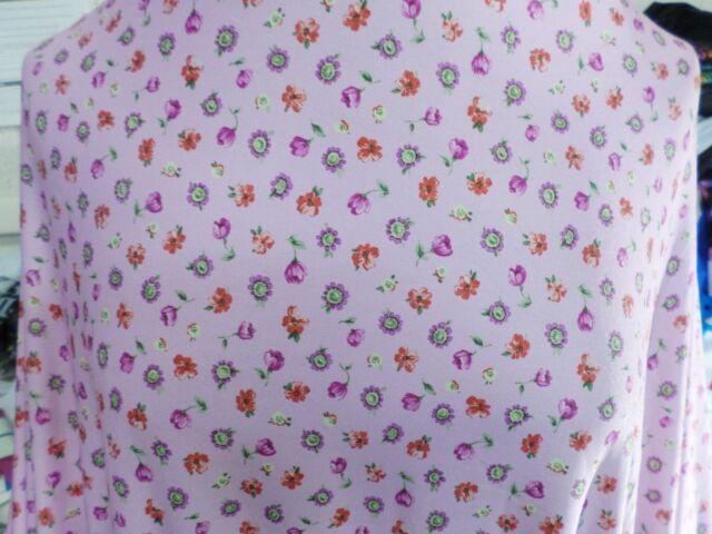 1  yd  print fabric  good weight 4 way spandex lycra J5968