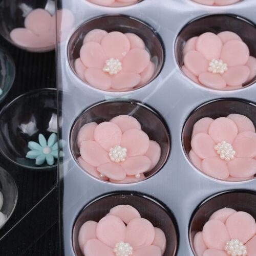 2Pcs Fondant  Cake Molds Flower Shaped Drying Mats Sugarcraft Baking Decor Tools