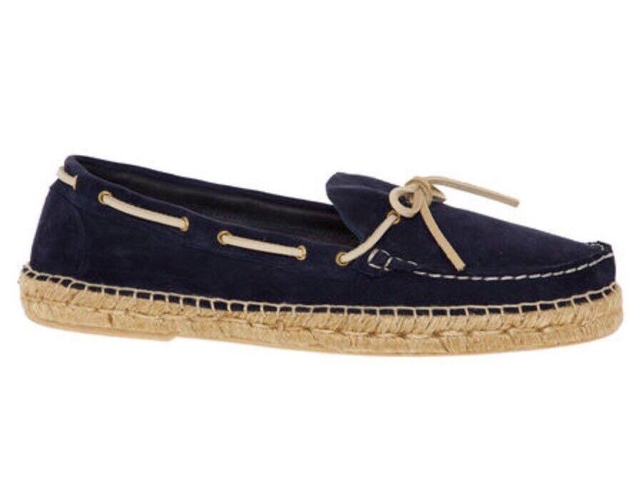 LATHBRIDGE Navy Suede Boat Espadrille Schuhes