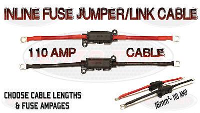 110 Amp Truck Battery Lead Cable Built-in Inline Midi Fuse Box Boat Marine Auf Der Ganzen Welt Verteilt Werden