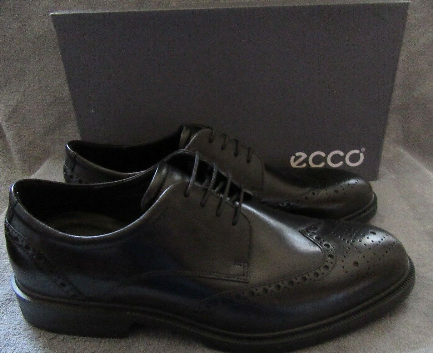 ECCO Mens Helsinki Slip on Bike Toe Lace Leather shoes US 11 - 11.5 M EUR 45 NWB