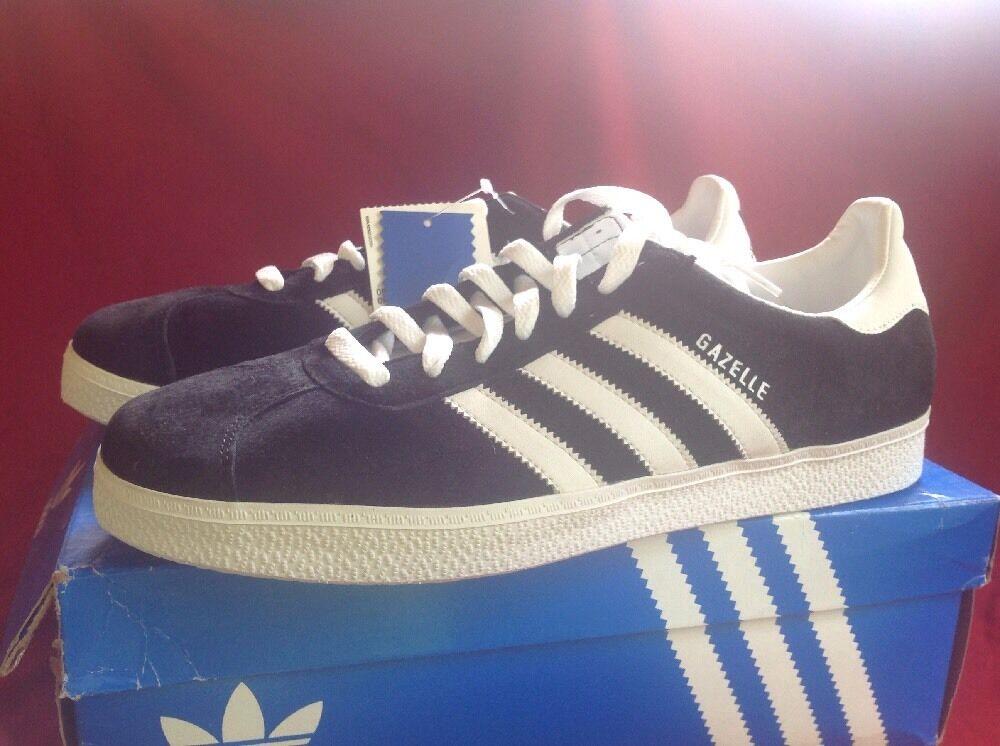 Adidas Originals GAZELLE CLASSIC BLACK WHITE 2007 RARE US US RARE Size 11.5 NIB! 664816
