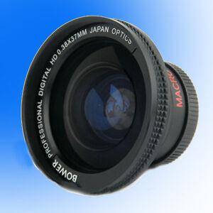 Bower 37mm 0.38x Wide Angle Lens for Sony HVR-A1E,A1U,HD1000U,HANDYCAM DCR-SR45