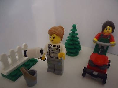 PAINTER /& LAWN MOWER 2 NEW LEGO GIRL MINIFIGS FROM 60134,FUN IN THE PARK