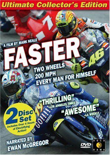 1 of 1 - FASTER DVD NEW SEALED EWAN McGREGOR 2 DISC COLLECTORS EDITION MOTOR BIKE RACING
