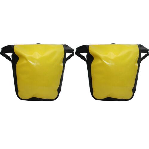 2er Pack Gepäckträgertaschen Transporttaschen Wasserdicht Gelb 18 L x2