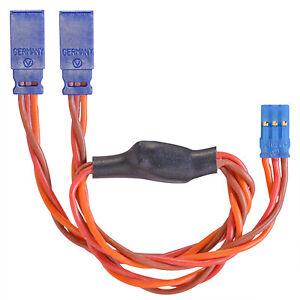 Servo-Y-Cable-Graupner-JR-Uni-0-50-millimetres-carres-torsade-silicone-300mm