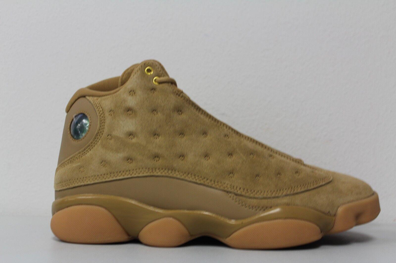 Nike Mens Air Jordan 13 Retro Wheat Element Gold Brown Flax 414571-705 Sz 11