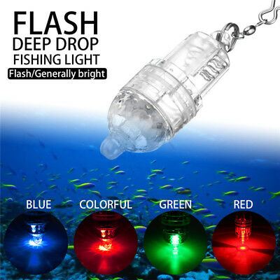 Deep Drop Underwater Fish Attracting Lure LED Fishing Flashing Flash Light Bait