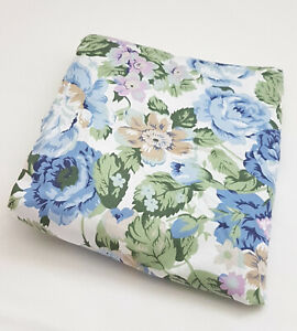 New-Floral-Cot-Fitted-Sheet-Baby-Nursery-Blue-Blooms-HOLLY