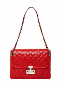 ac3854b66a47 MARC JACOBS Red Baroque XL Single Leather Shoulder Bag.      NEW ...