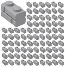 LEGO 50 Mauersteine 1x2 Ziegelsteine dunkelgrau Masonry Brick dark bluish gray