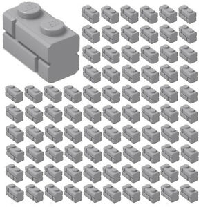 100x-NEW-LEGO-1x2-LIGHT-BLUISH-GRAY-Modified-Masonry-Profile-Bricks-98283-BULK