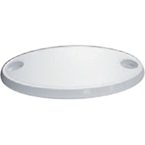 Lalizas Tischplatte oval mit 2 glassholders 450x760mm weiß,für Boot Wohnmobil,