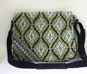 c516dfd5a3 Vera Bradley Green Blue large bag diaper floral shoulder tote ...