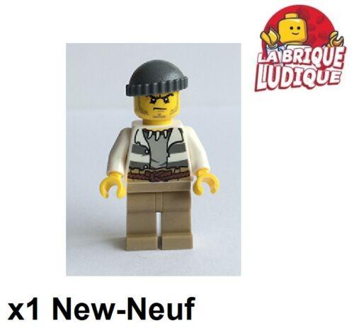 Lego - Figurine Minifig Voleur Prisonnier Jail Prisoner 60068 60069 cty515 NEUF