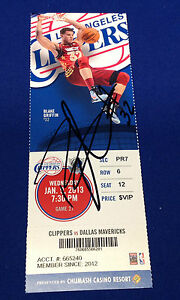 Blake Griffin Signed Los Angeles Clippers 2013 Ticket Stub JSA