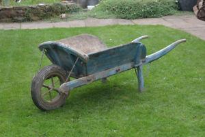 Vintage-wooden-wheel-barrow-old-wheelbarrow-barrow-wooden-wheel-old-wheel