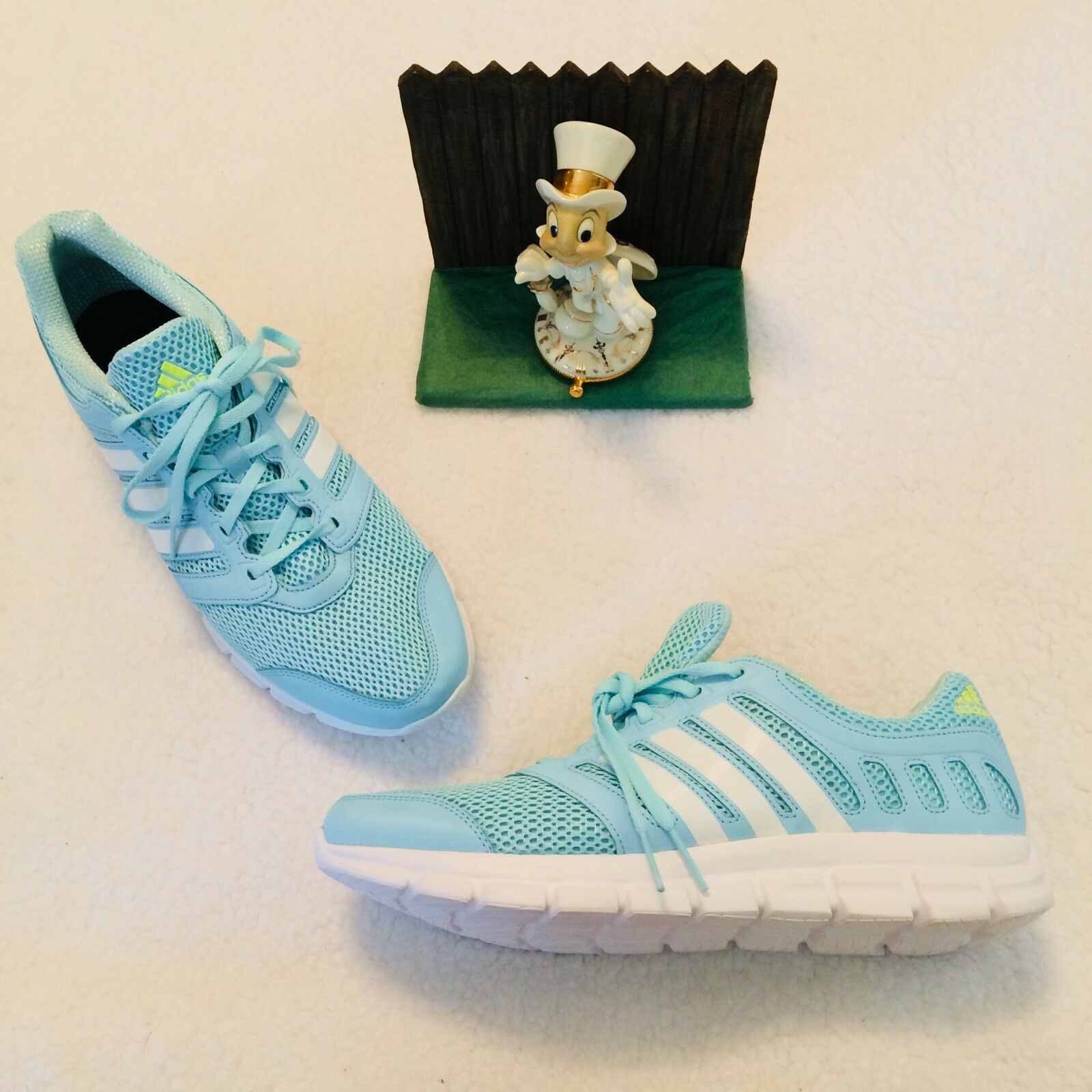 Adidas Breeze 11 M Baby bluee White Men Jogging Running Trainer shoes New Display