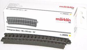 Maerklin-H0-24315-S-C-Gleis-gebogen-R3-515-mm-15-6-Stueck-NEU-OVP