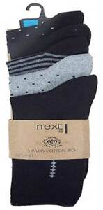 autumn shoes various colors the best attitude Details about NEXT Mens socks 5 pack black and grey NEW UK 6 - 8.5 & 9 -11  school work boys