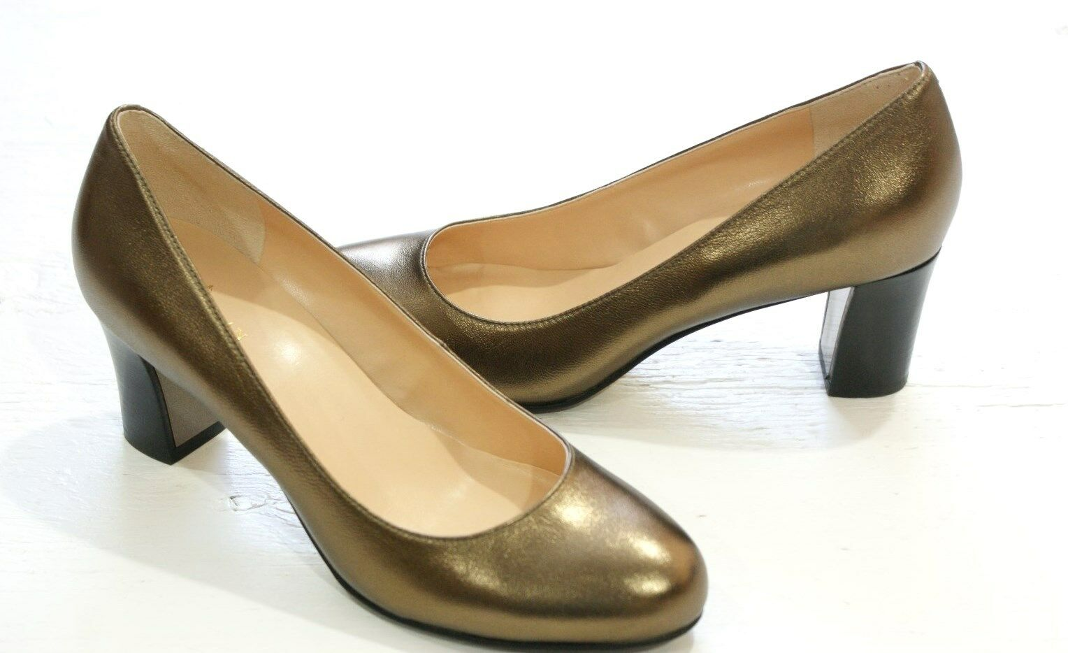Cole Haan Edie Low Pump Pump Pump gold Metallic Dress shoes Womens 10 NEW IN BOX b3ba5f