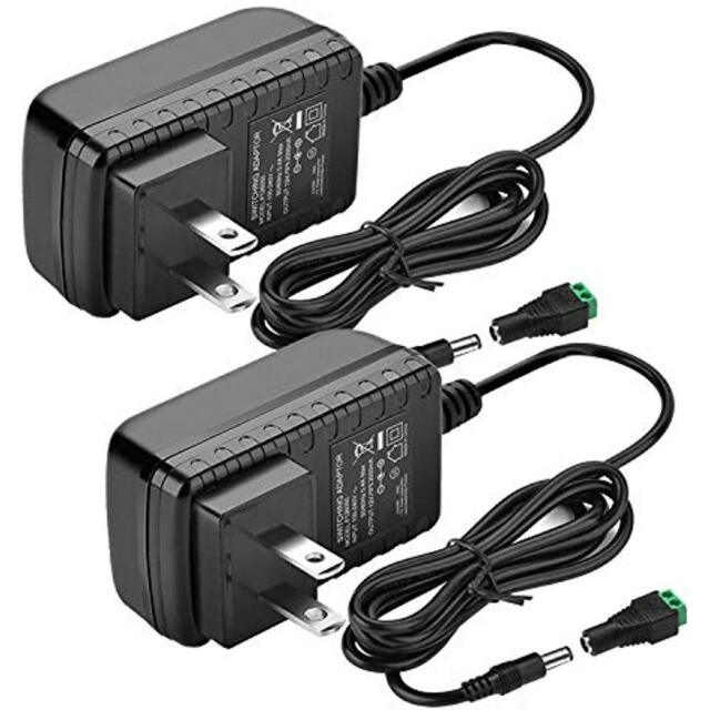 AC120V to DC12V Transformers 12V DC Power Supply 2A 24W Adaptor SANSUN 12 Volt Power Supply for LED Strip Lights Pack of 5