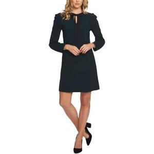 CeCe-Womens-Green-Puff-Sleeve-Office-Wear-To-Work-Shift-Dress-14-BHFO-8283