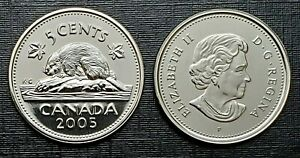 Canada-2005P-Proof-Like-Gem-Five-Cent-Nickel