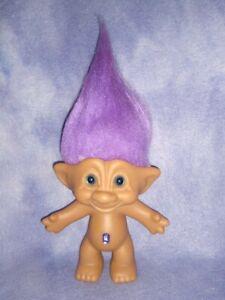 Vintage Ace Novelty Troll Doll Fire Chief Treasure Troll