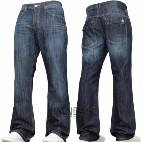 Mens Bootcut Jeans Clearance Sale Flared Wide Leg Denim Grey Pants by Jeanbase