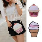 Women Girl Cute Ice Cream Satchel Shoulder Crossbody Messenge Handbag Bag Purse