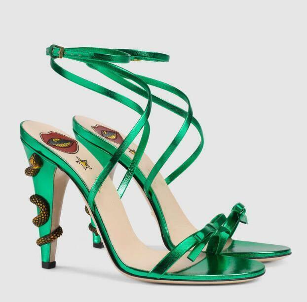 Occident donna High Stiletto Heels Round Toe Ankle Buckle Summer Sandals scarpe