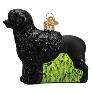 Old-World-Christmas-PORTUGUESE-WATER-DOG-12564-N-Glass-Ornament-w-OWC-Box