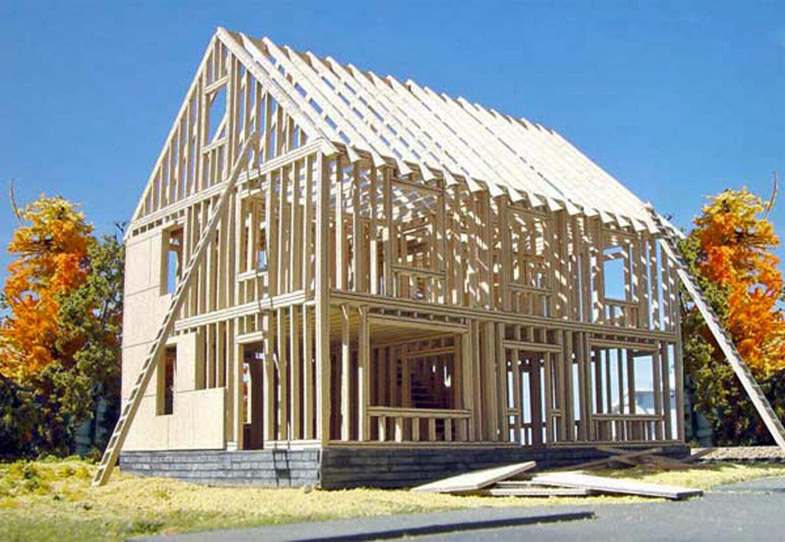 Casa en construcción HO Modelo Del FerroCocheril estructura sin pintar KIT de láser LA613