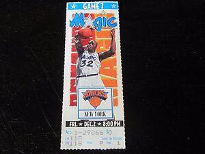Orlando-Magic-vs-New-York-Knicks-Ticket-Stub-Shaquille-O-039-Neal