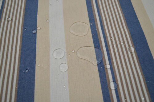 Markisenstoff blau-weiß-beige gestreift 160cm breit Stoff für Markisen      T57