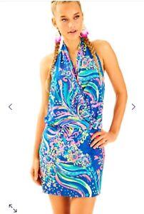 67c6a5431edc7f NWT $198 Lilly Pulitzer Felizia Dress Multi Beach Loot Knit Jersey ...