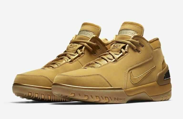 Nike Air Zoom Generation ASG QS Wheat 2018 LeBron James Men's Size 7 AQ0110-700
