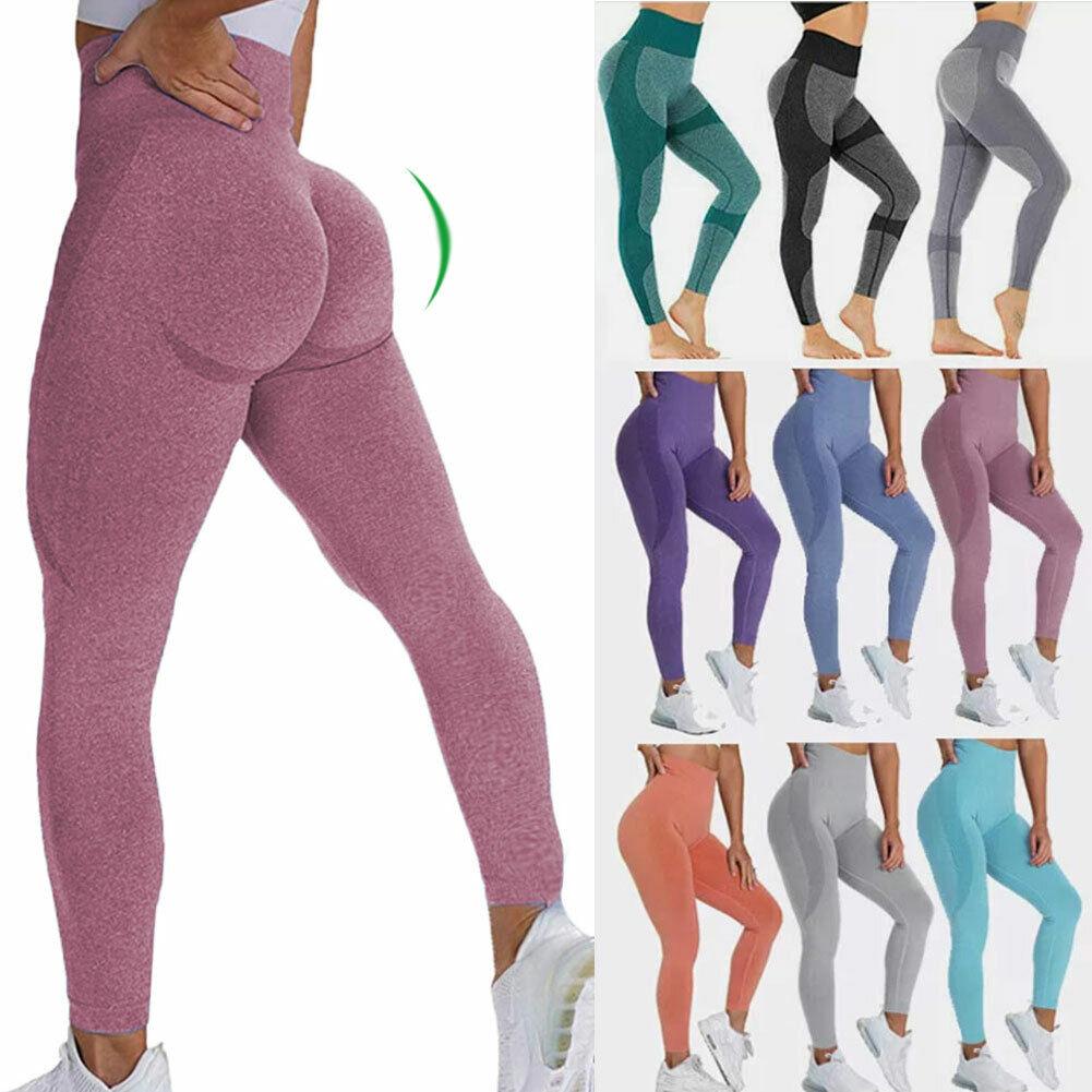 Womens High Waist Vital Seamless Gym Leggings Fitness Running Yoga Pants Elastic