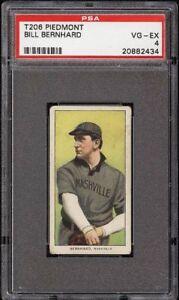 1909-11 T206 Bill Bernhard Piedmont 350 Southern League Nashville PSA 4 VG-EX