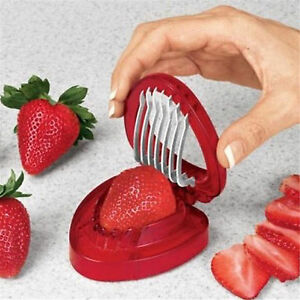Image Is Loading Fruit Strawberry Cutter Knife Simply Strawberry  Slicer Home