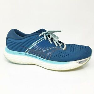 Saucony Womens Triumph 17 S10546-25 Blue Running Shoes Lace Up Low Top Size 10.5