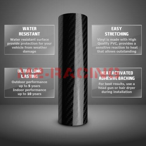 *5D Carbon Fiber GMC Emblem Overlay Vinyl Wrap Kit Sticker Decal Front /& Rear